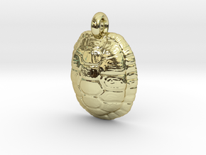 Turtle Shell Pendant Version 1 in 18k Gold