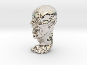 Foot Guy Solid 1'' in Rhodium Plated Brass