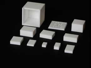 FenCube in White Natural Versatile Plastic