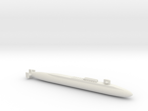 Ohio SSBN With Seal Pods, Full Hull, 1/1800 in White Natural Versatile Plastic
