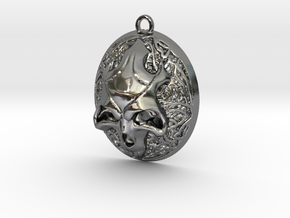 FELDOR pendant  in Fine Detail Polished Silver