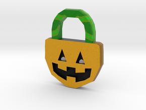 Halloween Pumpkin - Necklace in Full Color Sandstone