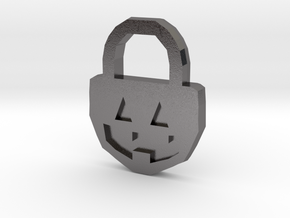 Halloween Pumpkin - Necklace in Polished Nickel Steel
