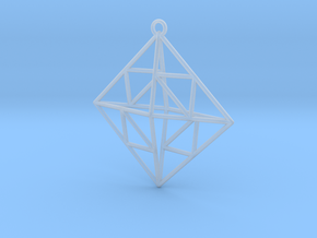 OCTAHEDRON Earring / Pendant Nº2 in Smoothest Fine Detail Plastic