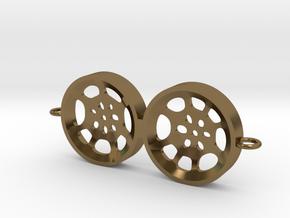 """Double Tenor """"void"""" steelpan bracelet/charm in Polished Bronze"""