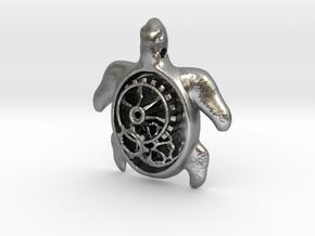 MECHA MOMO pendant  in Natural Silver