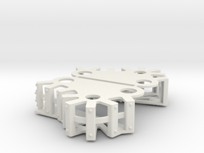 Ork Steam Gargant Style Track Cover Set in White Natural Versatile Plastic