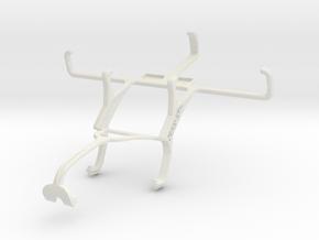 Controller mount for Xbox 360 & Kyocera Brigadier in White Natural Versatile Plastic