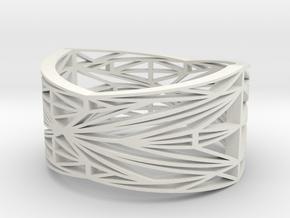 Linear Bracelet in White Natural Versatile Plastic