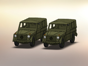 2x MB Wolf Mercedes G 1:160 in Smooth Fine Detail Plastic