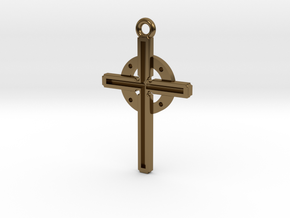 Cross in Polished Bronze