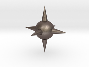 Spike Ball in Polished Bronzed Silver Steel