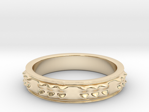 RING  PICOTS   U.S  Size 11 in 14K Yellow Gold