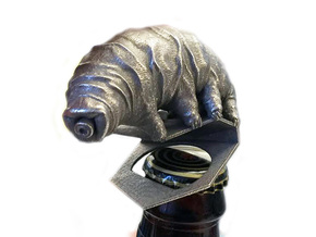Tardigrade Bottle Opener in Polished Bronzed Silver Steel