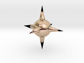 Spike Ball in 14k Rose Gold