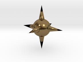 Spike Ball in Polished Bronze