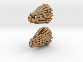 Diffusion Earrings in Polished Brass