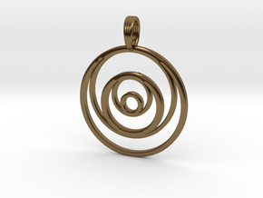 RINGS AROUND THE MOON in Polished Bronze