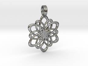 INFINITY FLOWER (pendant) in Premium Silver