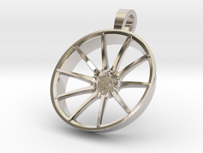 Vossen VPS301 KeyChain 35mm in Rhodium Plated Brass