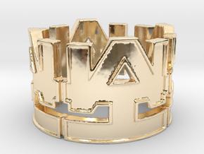 WAI Symbol Ring Size 12 in 14K Yellow Gold