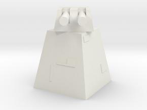Death Star Turret in White Natural Versatile Plastic