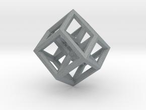 Hypercube Pendant in Polished Metallic Plastic