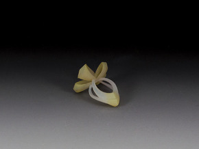 Bow Ring in White Strong & Flexible