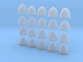 6 Legged Bear - 20, 28mm Shoulder Pads in Smooth Fine Detail Plastic