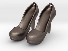 Modern Heels - Style 2 size 2 in Polished Bronzed Silver Steel