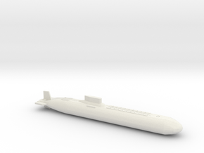 Typhoon Class Sub, Full Hull, 1/1800 in White Natural Versatile Plastic
