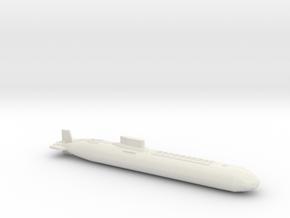 Typhoon Class Sub, Full Hull, 1/1800 in White Natural Versatile Plastic