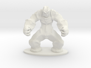 Rock Golem Earth Elemental Miniature in White Natural Versatile Plastic