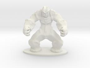 Rock Golem Earth Elemental Miniature in White Natural Versatile Plastic
