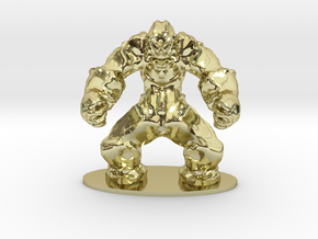 Rock Golem Earth Elemental Miniature in 18K Gold Plated