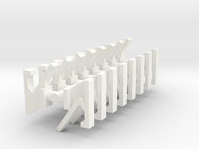 1/16 JgdPz IV Schurzen Brackets in White Processed Versatile Plastic