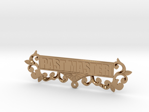 Past Master Jewel Name Plate in Polished Brass