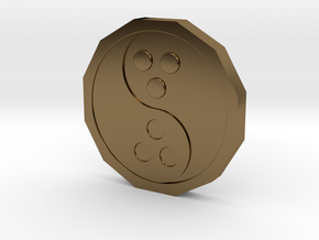 Dudeist Coin (Heads on both sides) in Polished Bronze