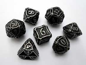 Dice Set with Decader in Stainless Steel