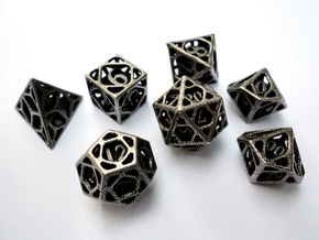 Cage Dice Set with Decader in White Premium Versatile Plastic