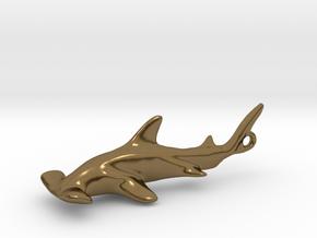 Hammerhead Pendant in Polished Bronze