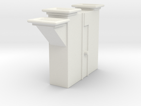 'HO Scale' - Bucket Elevator - Boot in White Natural Versatile Plastic