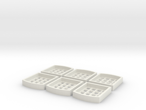 Window Inserts For S2 Centre Part in White Strong & Flexible