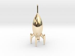 Roger One - Pocket Rocket in 14k Gold Plated Brass
