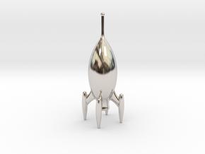 Roger One - Pocket Rocket in Rhodium Plated Brass