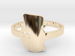 [Halloween] Gentel Ghost in 14k Gold Plated Brass