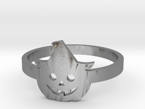 [Halloween] Pumpkin with hat in Raw Silver