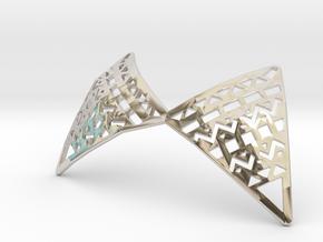 Aztec Necklace in Rhodium Plated Brass
