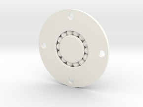 Modified Bearing in White Processed Versatile Plastic