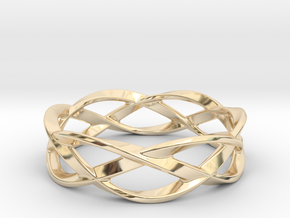 Weave Ring (Small) in 14k Gold Plated Brass